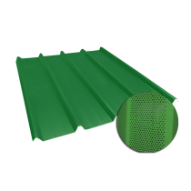 Tôle nervurée 45-333-1000, 60/100e vert reseda perforée - 3,5 m