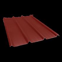 Tôle nervurée 45-333-1000, 70/100e brun rouge - 7 m
