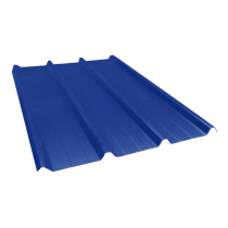 Tôle nervurée 45-333-1000, 70/100e bleu ardoise - 4,5 m