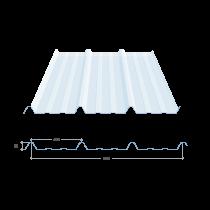 Tôle nervurée 45-333-1000, polycarbonate transparent - 10 m