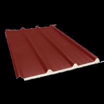 Tôle nervurée 45-333-1000 isolée sandwich 60 mm, brun rouge RAL8012, 4,5 m