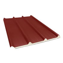 Tôle nervurée 45-333-1000 isolée sandwich 80 mm, brun rouge RAL8012 - 2,55 m