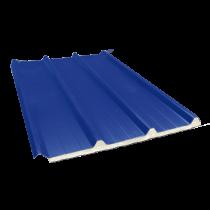 Tôle nervurée 45-333-1000 isolée sandwich 40 mm, bleu ardoise RAL5008, 4 m