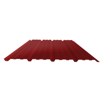 Tôle nervurée 25-267-1070, 60/100e brun rouge bardage - 2 m