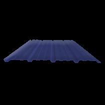 Tôle nervurée 25-267-1070, 60/100e bleu ardoise bardage - 2 m