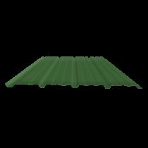 Tôle nervurée 25-267-1070, 60/100e vert reseda bardage - 5 m