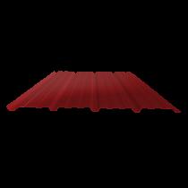Tôle nervurée 25-267-1070, 70/100e brun rouge bardage - 6,5 m