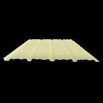 Tôle nervurée 25-267-1070, 70/100e jaune sable bardage - 2,5 m