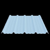 Tôle nervurée 33-250-1000 économique, translucide polycarbonate - 6 m