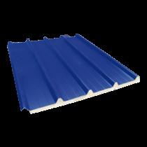 Tôle nervurée 33-250-1000 isolée économique 40 mm, bleu ardoise RAL5008, 5,5 m