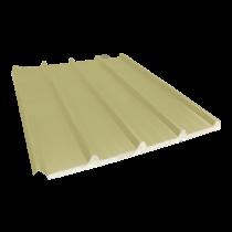Tôle nervurée 33-250-1000 isolée économique 60 mm, jaune sable RAL1015, 5 m