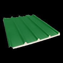 Tôle nervurée 33-250-1000 isolée économique 60 mm, vert reseda RAL6011 - 2,55 m