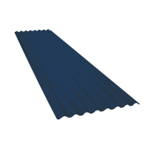 Tôle ondulée 15 ondes bleu ardoise RAL5008, épaisseur 0,60, 5,5 m