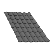 Tôle tuile gris anthracite - 5 m