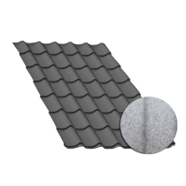 Tôle tuile gris anthracite, anticondensation - 2,5 m