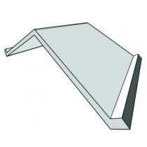 Faitière plate galvanisée