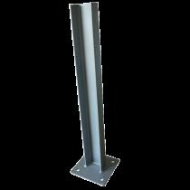 Poteau sur platine pour glissière d'autoroute (hauteur 0.80M)