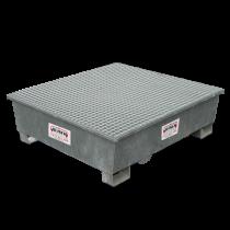 Bac de rétention carré galvanisé 4 fûts - 570 litres