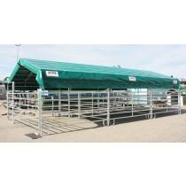 Modulabri avec barrières Texas 5,00 m x 10 m et bâche de couverture