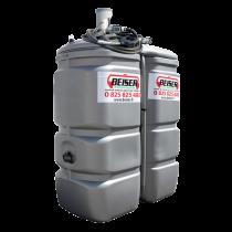 """Station citerne fuel double paroi en plastique PEHD sans odeur, 750 litres, pompe 24V avec limiteur de remplissage 2"""""""
