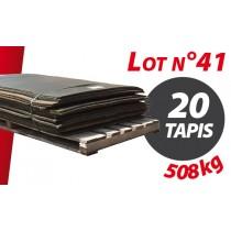 Palette N°41 (508kg) de 20 tapis caoutchouc d'occasion Qingdao 1.82m x 1.20m pour ensilage