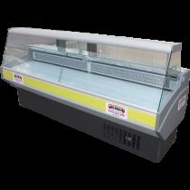 Vitrine réfrigérée compacte vitres droites, 1,5 m