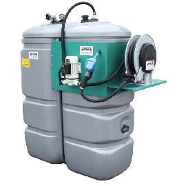 Station AdBlue 1000 L double paroi en plastique PEHD Sans odeur avec enrouleur