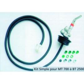 KIT soutirage simple pour citerne FUEL polyéthylène renforcée avec renforts métalliques