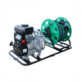 """Pompe d'arrosage 1"""" thermique essence avec enrouleur (en kit)"""