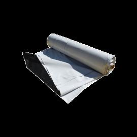 Bâche plastique d'ensilage noir/blanc, le rouleau de 10m x 50m (150 mic/500 m2)