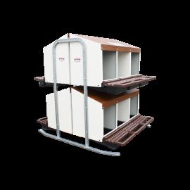 poulailler ou b timent mobile pour levage avicole en kit 30 m2. Black Bedroom Furniture Sets. Home Design Ideas