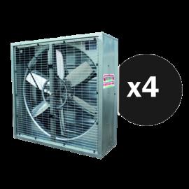 Kit 4 ventilateurs grand volume 106 cm X 106 cm X 40 cm