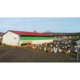 Poulailler ou bâtiment mobile pour élevage avicole en kit 60 m2 structure galvanisée