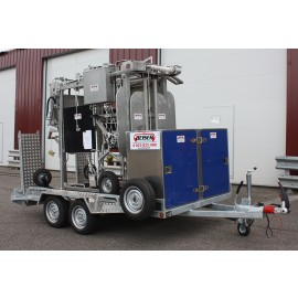 Remorque pour transport cage de contention inox