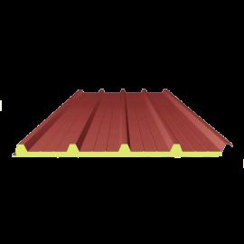 Panneau SANDWICH de TOITURE ROUGE RAL 3009, 7 m 4-250-40