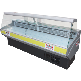 Vitrine réfrigérée compacte vitres droites, 2 m