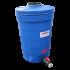Beiser Environnement - Citerne ronde 500 litres en plastique PEHD bleue compacte qualité alimentaire - Vue d'ensemble