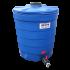 Beiser Environnement - Citerne ronde 1000 litres en plastique PEHD bleue compacte qualité alimentaire - Vue d'ensemble