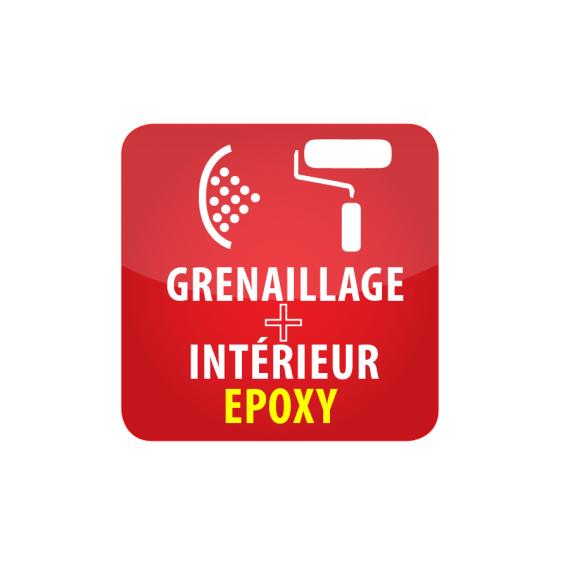 Grenaillage + revêtement intérieur de protection époxy pour citerne 50 000Litres