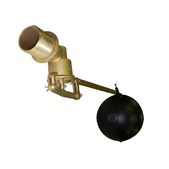 """Robinet laiton 2"""" avec flotteur en PVC"""