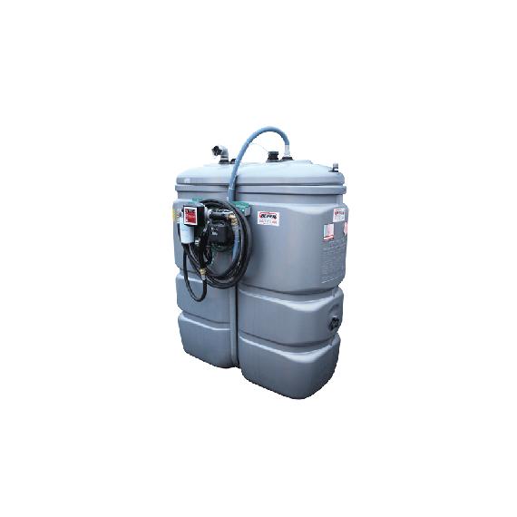 """Station fuel double paroi PEHD sans odeur 1000 L """"modèle Confort"""" avec limiteur de remplissage 2"""""""