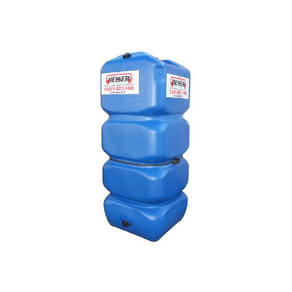 Citerne en plastique PEHD 1000L qualité alimentaire (bleu)