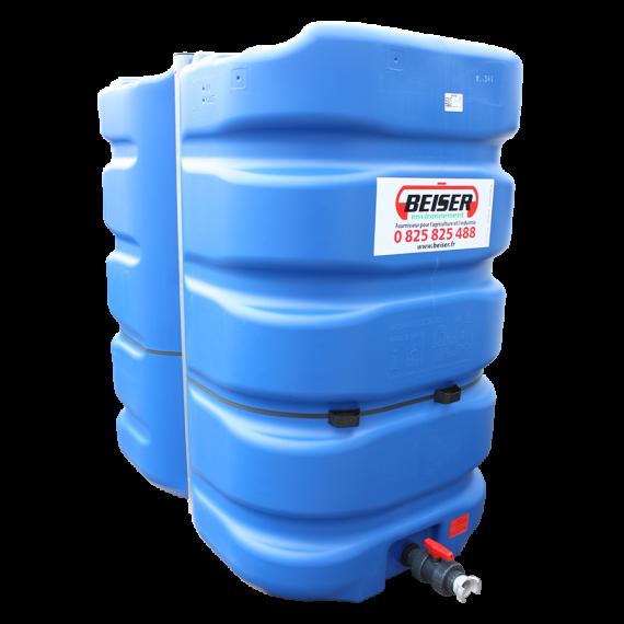 Citerne 3000 litres en plastique PEHD bleue compacte qualité alimentaire
