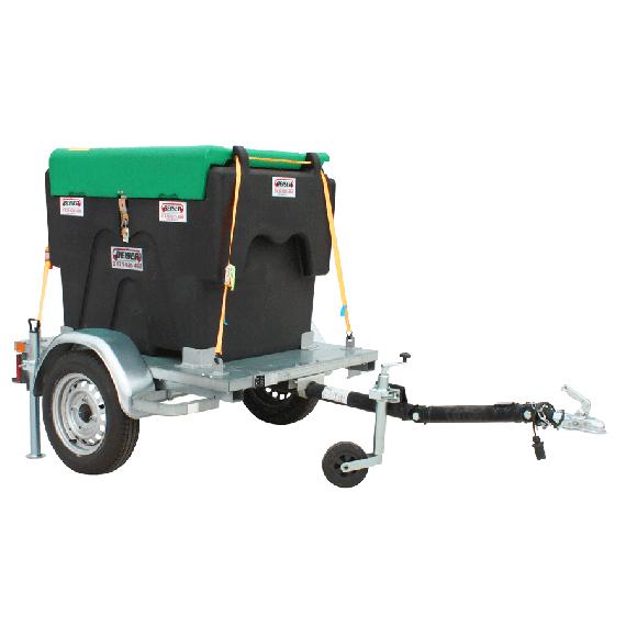 Pack transport du fuel sur châssis routier (plateau) 450L avec enrouleur