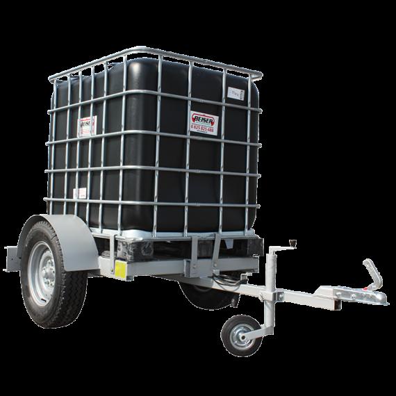 Cubi en plastique PEHD 1000 litres sur chassis agraire