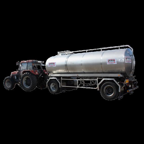 Citerne inox 14000 litres sur chassis origine 2 essieux - Occasion 2