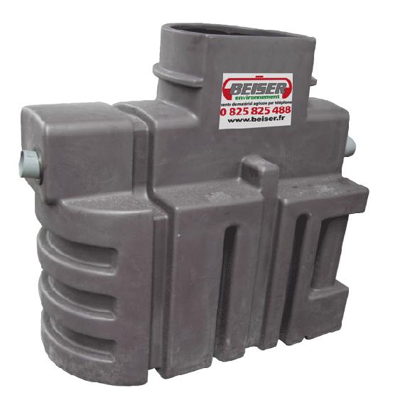 Séparateur à hydrocarbures en plastique PEHD avec débourbeur 500 litres
