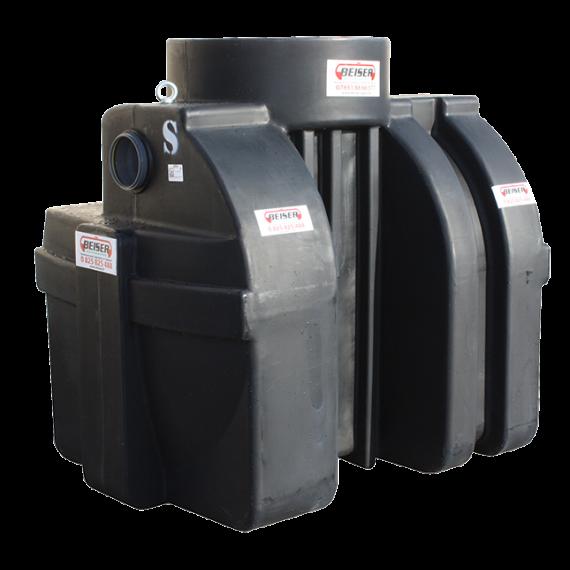 Séparateur à hydrocarbures en plastique PEHD avec débourbeur 1200 litres