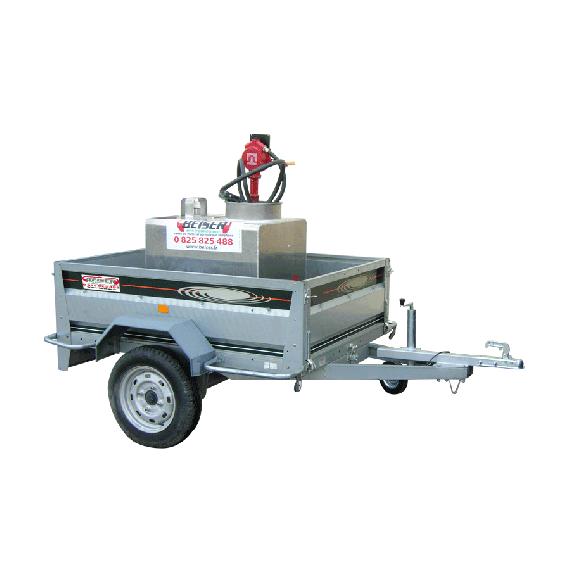Pack transport essence 250 Litres sur remorque