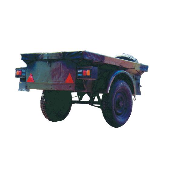 Roue de secours pour remorque de jeep